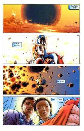 From All Star Superman #1 by Frank Quietly and Grant Morrison.