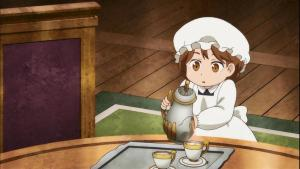 Will our heroine manage to fill the cup to the right height without letting a drop fall on the table? The answer after the opening!