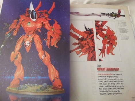 A pic of the new Wraith Knight Model. GW have liked their big plastic kits of late.