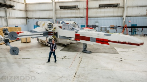 A full shot of the X-wing