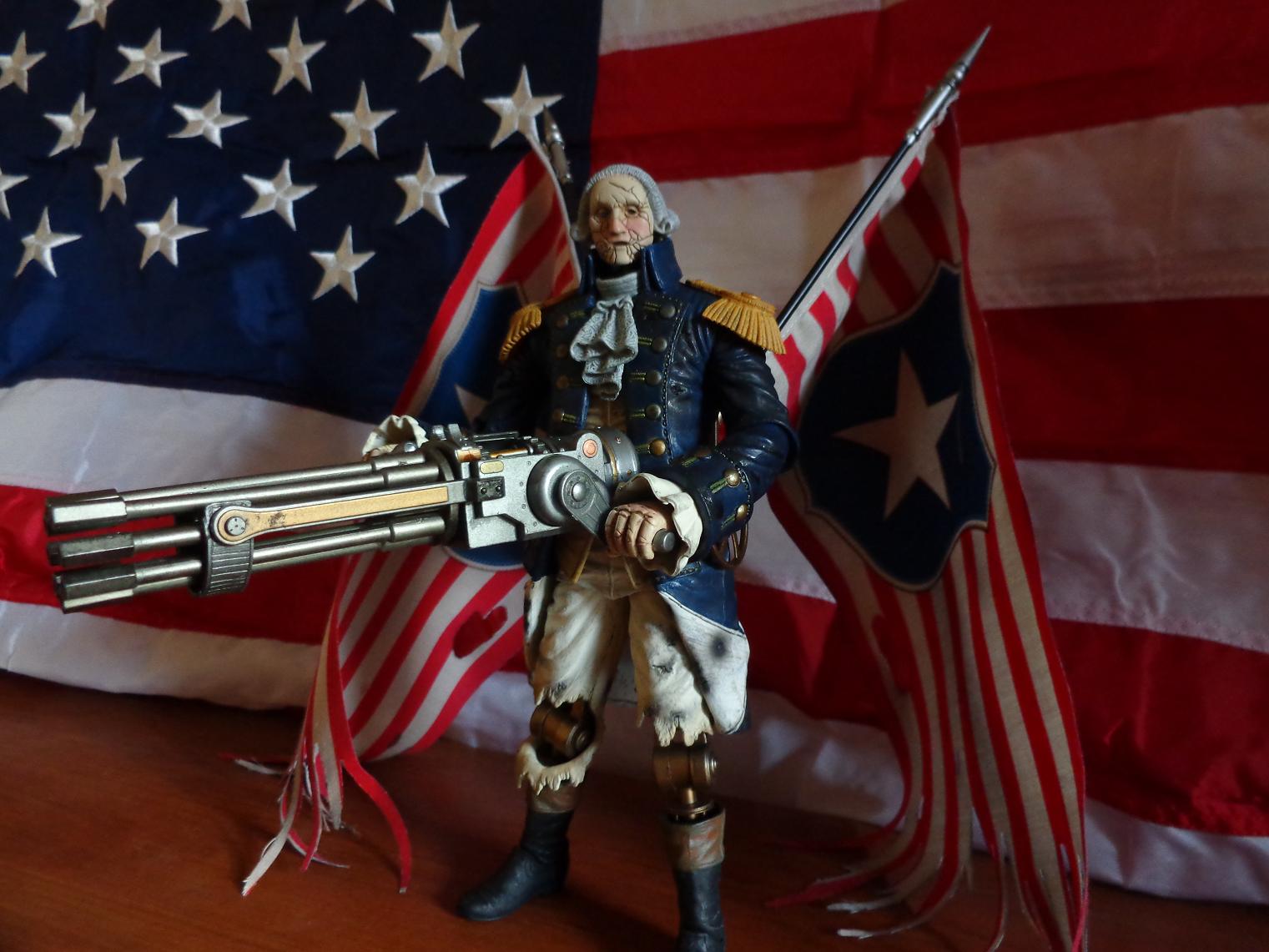 george washington machine gun