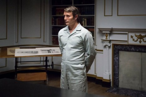 "HANNIBAL -- ""...and the Woman Clothed in the Sun"" Episode 310 -- Pictured: Mads Mikkelsen as Hannibal Lecter -- (Photo by: Brooke Palmer/NBC)"